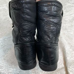 Burberry Shoes - Burberry Fur and leather moto boots size 39